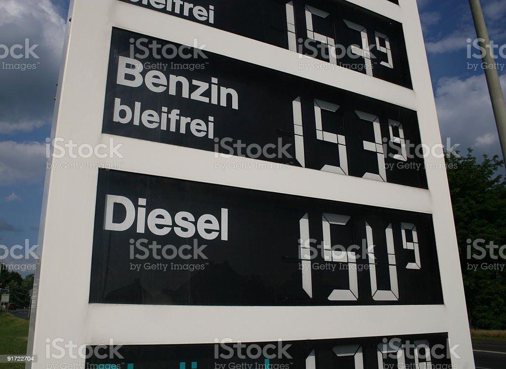 Steigende Benzinpreise royalty-free stock photo