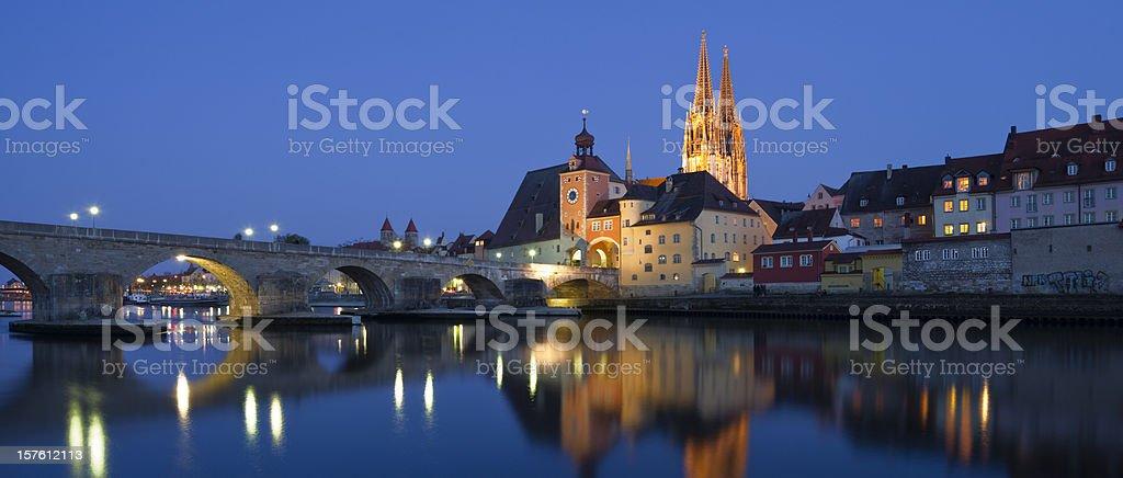 Steinerne Brücke, Regensburg stock photo