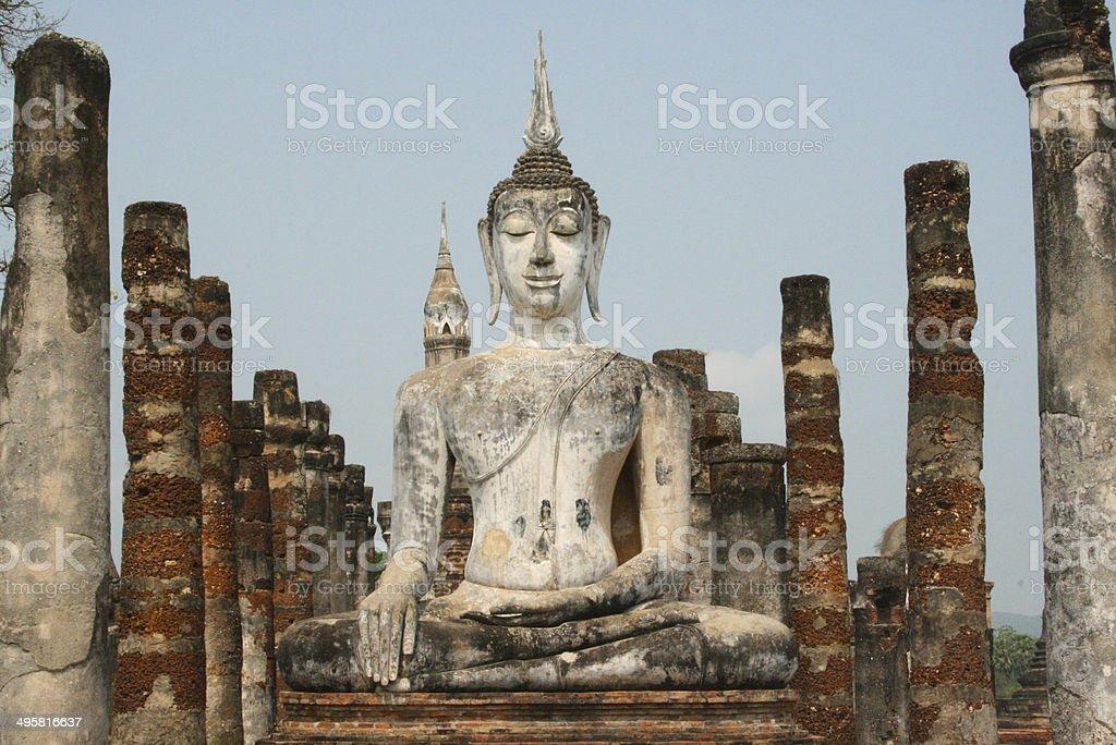 Steinstatue Buddha stock photo
