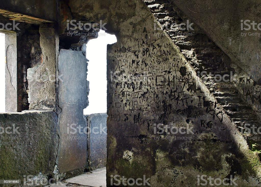 Steintreppe Im Verfallenen Haus – Foto