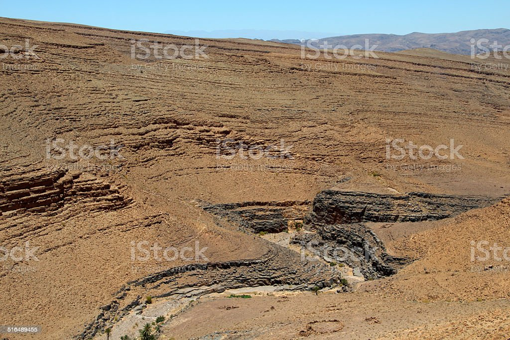 Steinwüste in Marokko stock photo