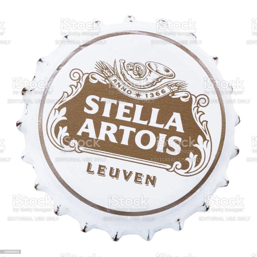 Stella Artois Metal Cap stock photo