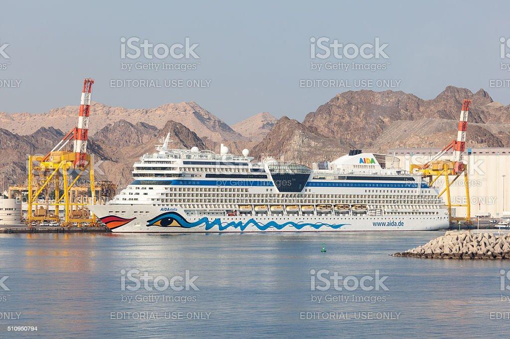 AIDA Stella cruise liner in Muscat, Oman stock photo