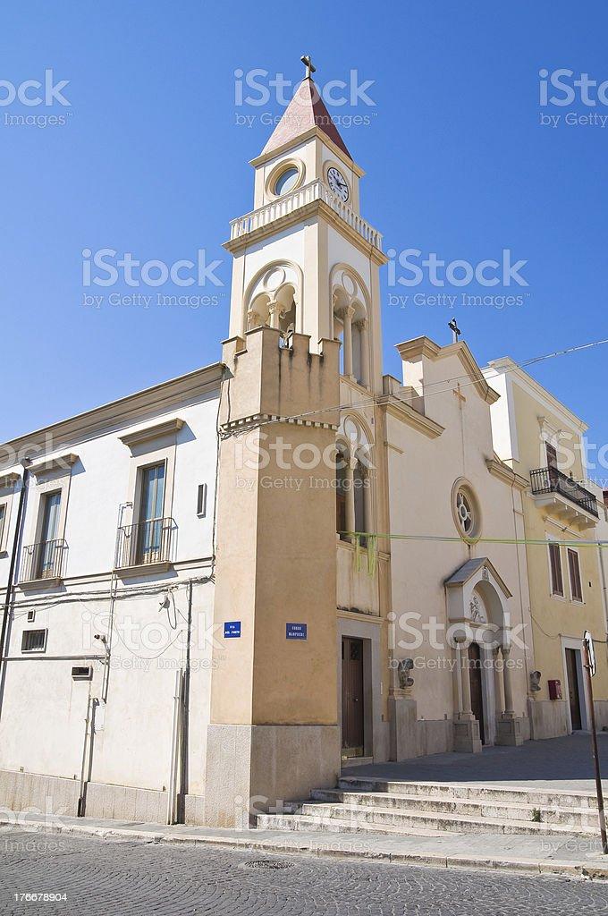 Stella Maris Church. Manfredonia. Puglia. Italy. royalty-free stock photo