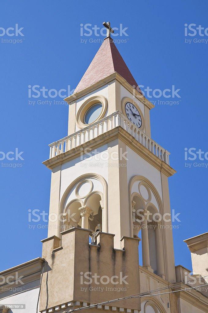 Stella Maris iglesia. Manfredonia. Puglia. Italia. foto de stock libre de derechos