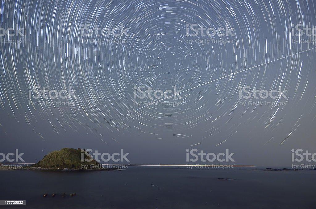 stellar diurnal motion royalty-free stock photo