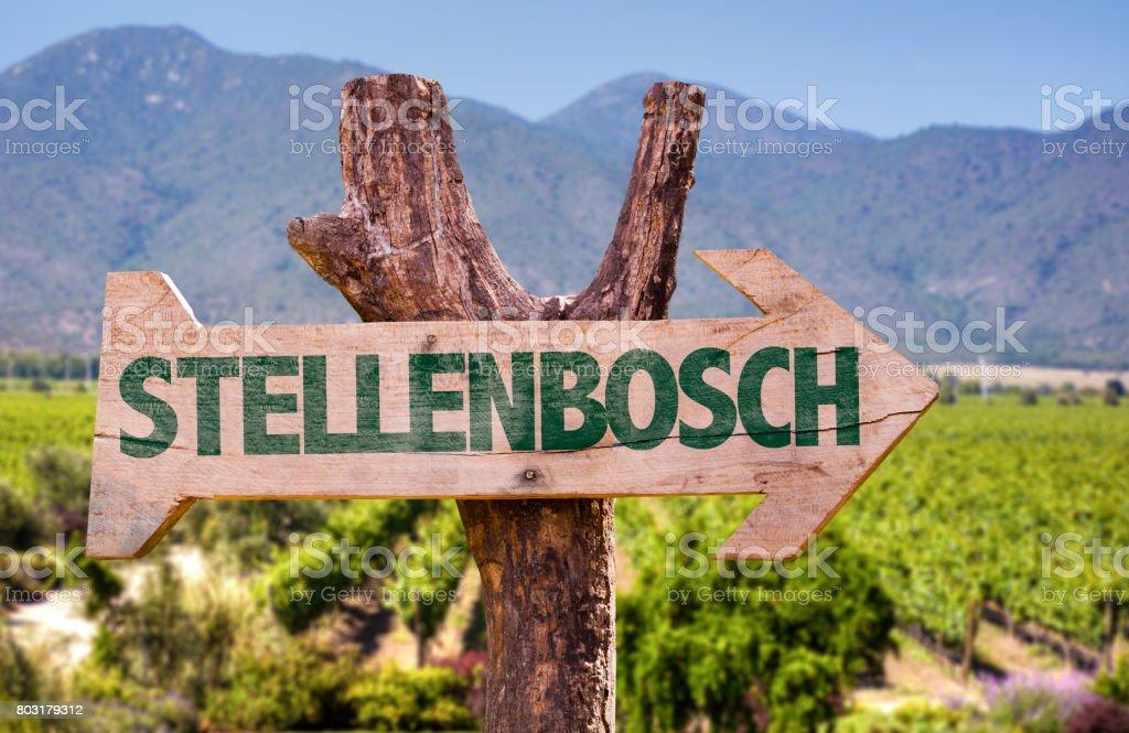 Stellenbosch direction sign stock photo