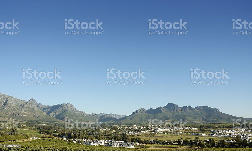 Stellenbosch Mountains III royalty-free stock photo