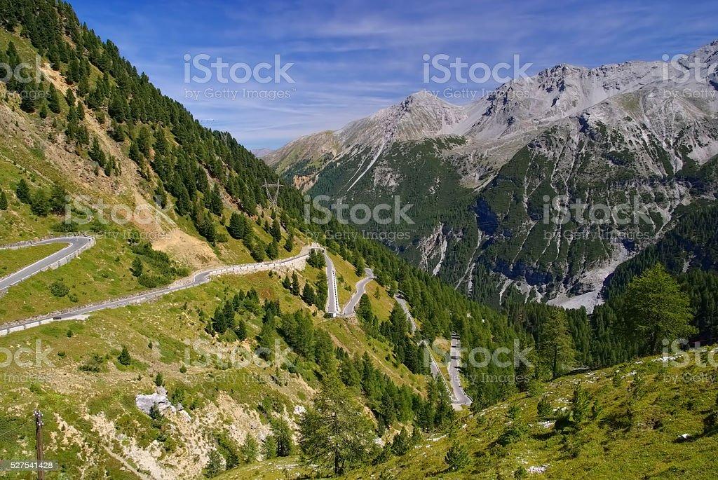 Stelvio Pass in South Tyrol stock photo