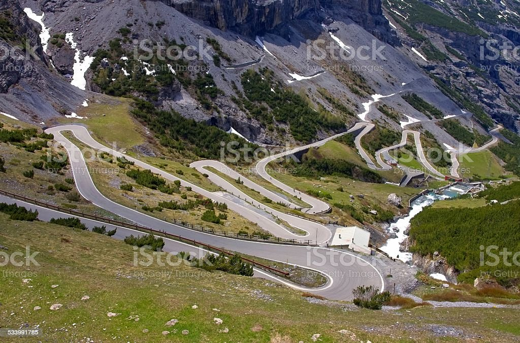 Stelvio Pass stock photo