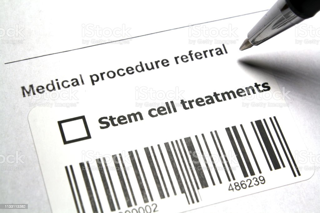 Stem-cell therapy stock photo
