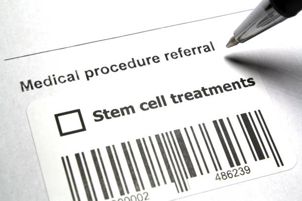 Stem-cell therapy Therapeutic medical procedure referral - Stem-cell therapy stem cell therapy stock pictures, royalty-free photos & images