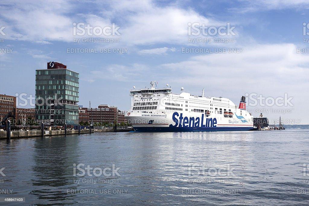 Stena Line Ferry in the harbor of Kiel, Germany stock photo