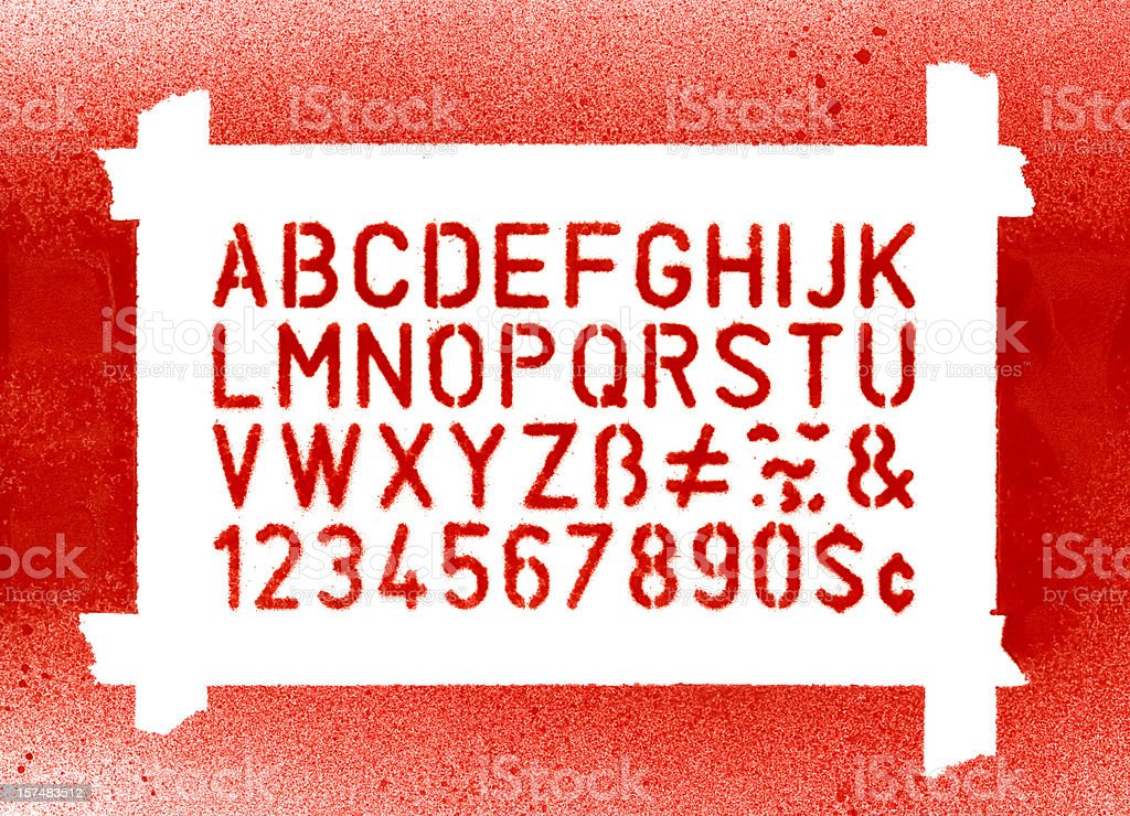 Stencil Lettering royalty-free stock photo