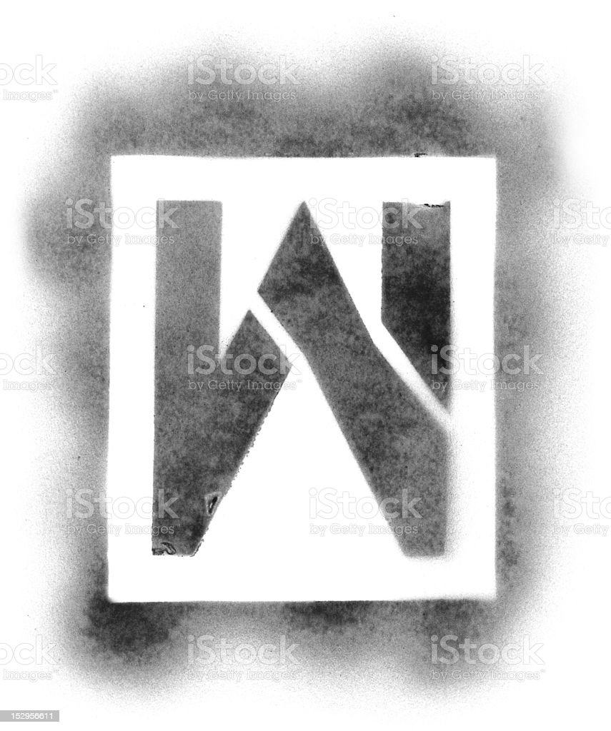 Stencil Letters In Spray Paint Stock Photo - Download Image Now - iStock