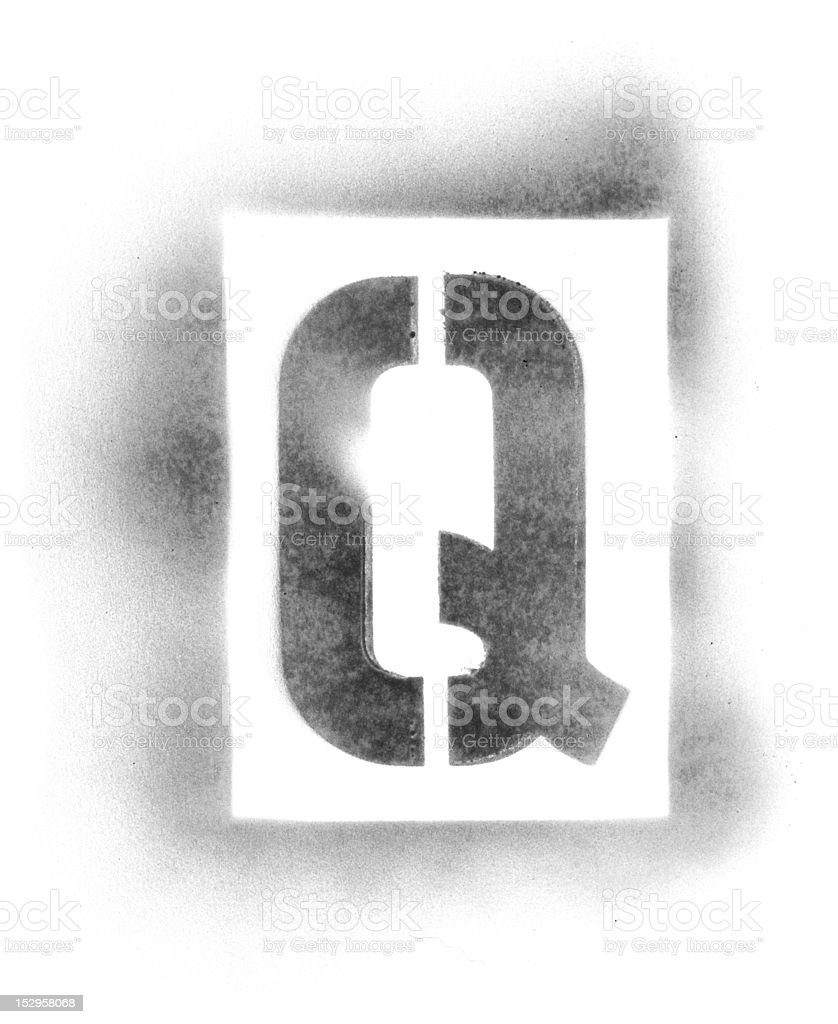 Stencil Letters In Spray Paint Stock Photo Download Image