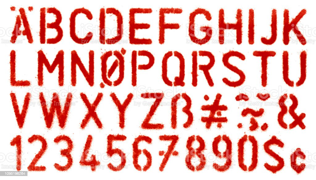 Stencil Spray Painted Of Alphabets Stock Photo Download