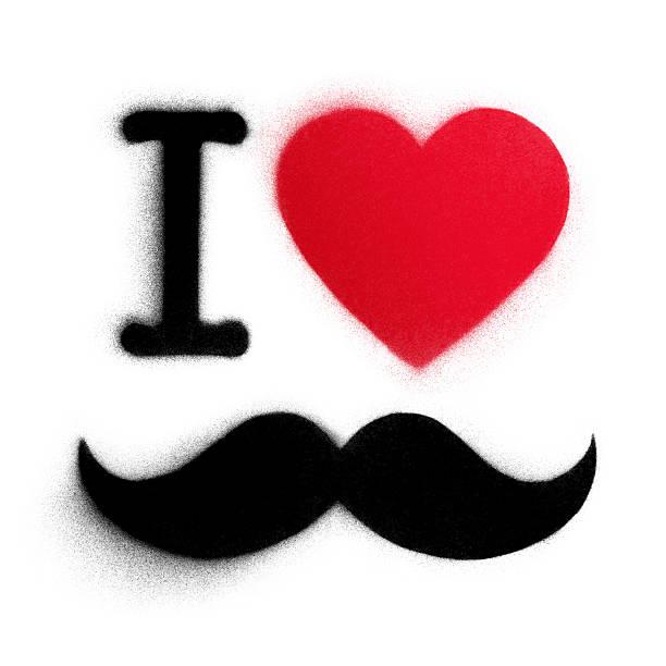 Schablonenmotiv Ich liebe Schnurrbart – Foto