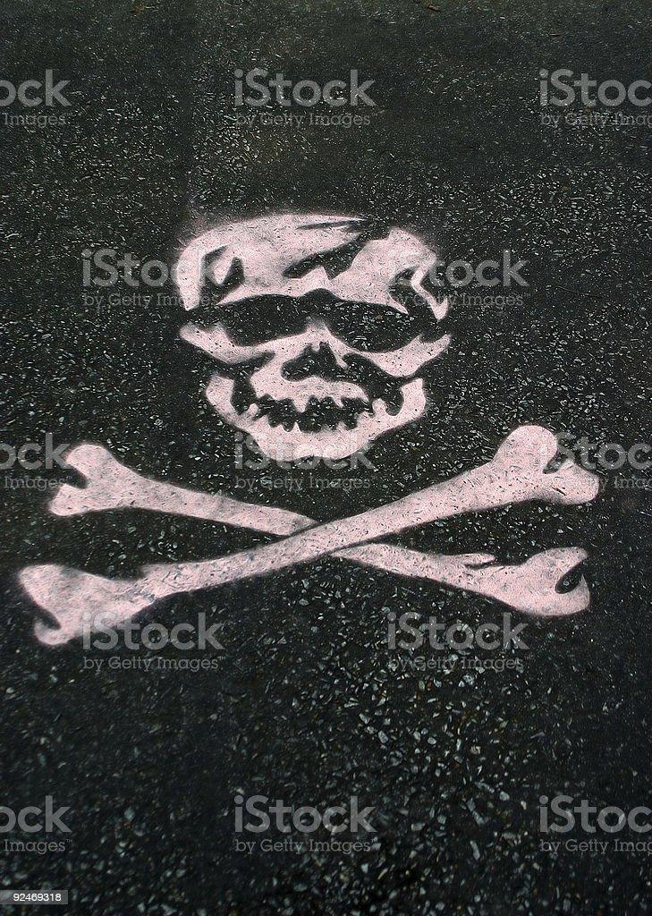 Stenciled Skull royalty-free stock photo