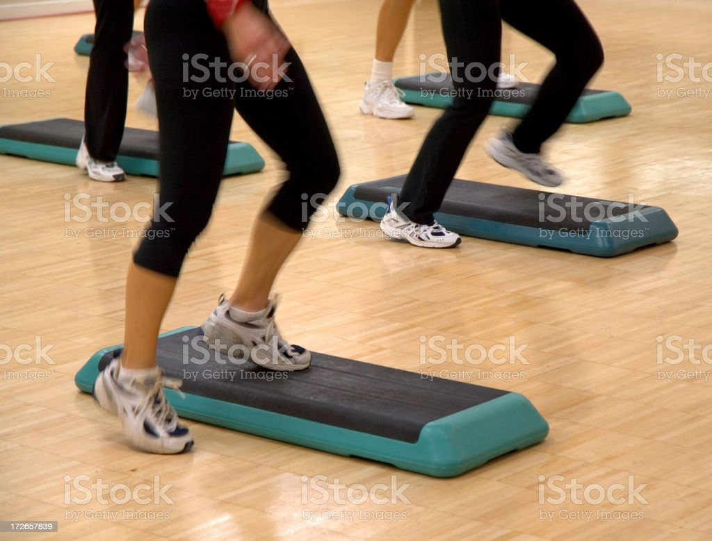 Step Aerobics Class stock photo