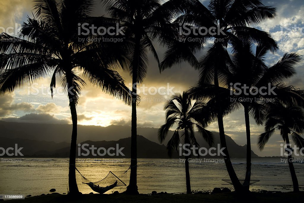 Step into paradise. stock photo