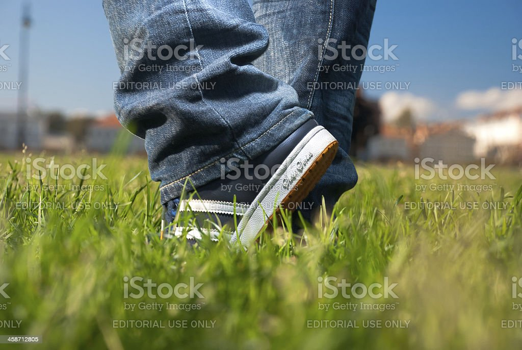 Step into summer stock photo