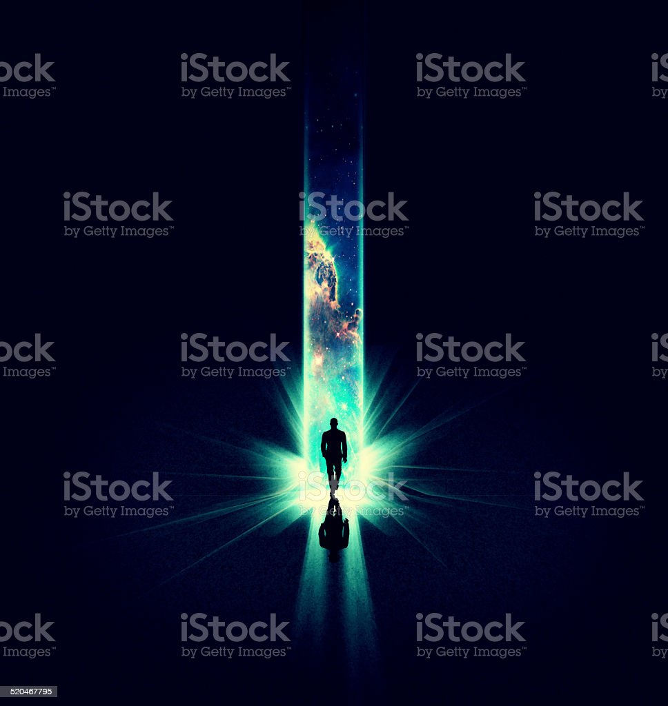 Step into the great beyond stock photo