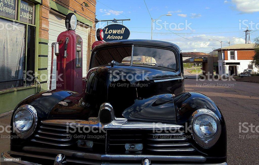 Step Into the Past, Erie Street, Bisbee Arizona stock photo