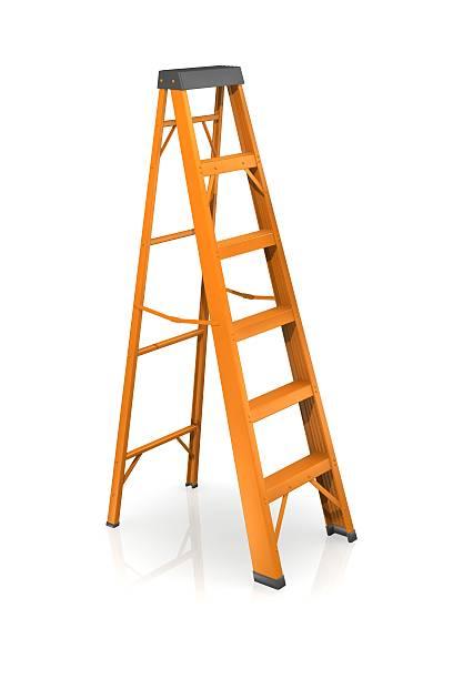 step ladder ready to help you reach new heights - ladder stockfoto's en -beelden