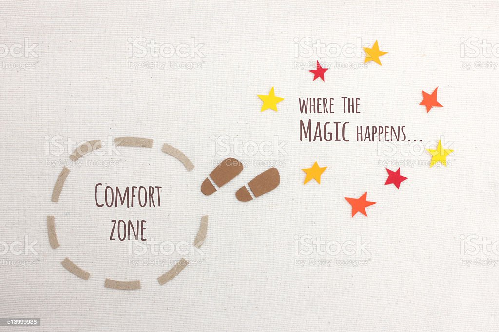 Step out of your comfort zone foto