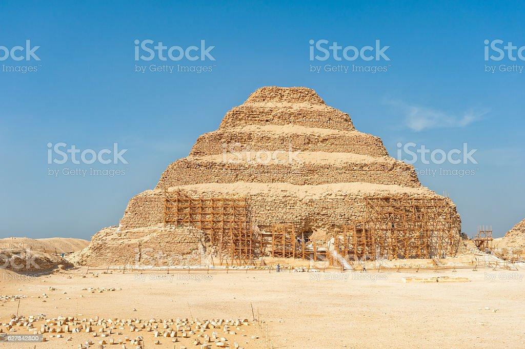 Step pyramid at Saqqara , Egypt stock photo