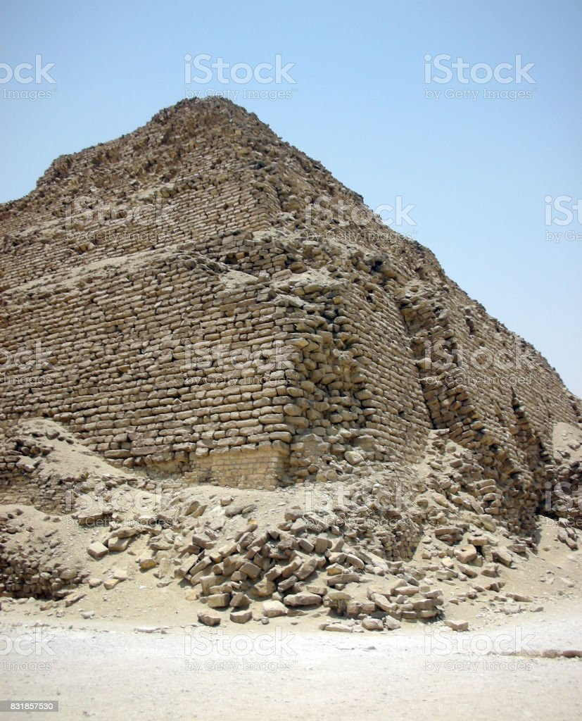 Step Pyramid Detail stock photo