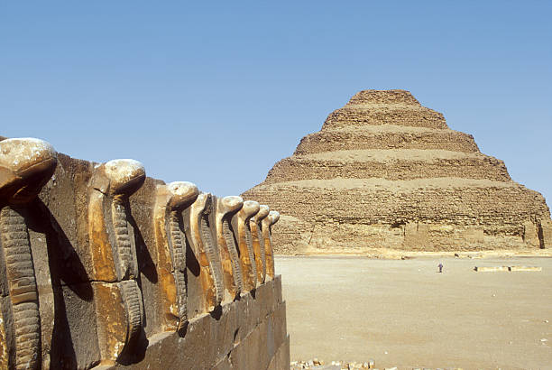 Step Pyramid in Saqqara stock photo