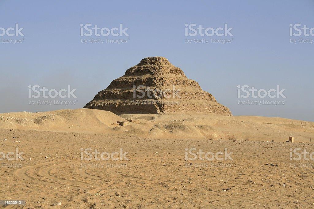 Step Pyramid of Djoser, Egypt stock photo