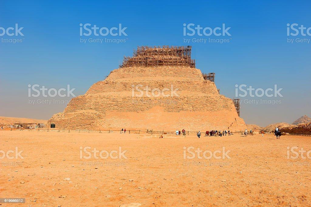 Step pyramid of Djoser in Saqqara, Egypt stock photo