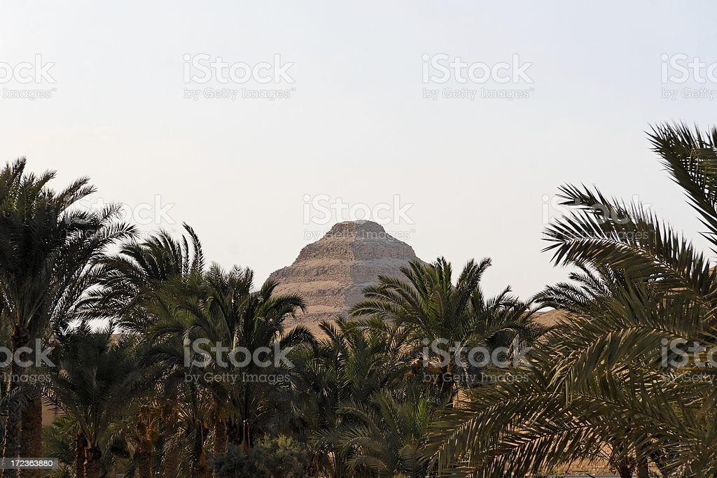 Step pyramid stock photo