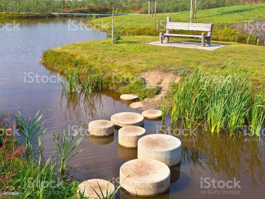Step stones stock photo
