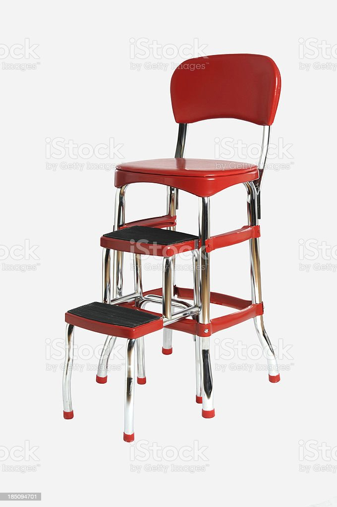 Peachy Step Stool Chair Stock Photo Download Image Now Istock Andrewgaddart Wooden Chair Designs For Living Room Andrewgaddartcom