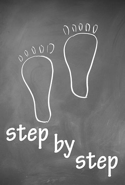 step symbol step by step symbol single step stock pictures, royalty-free photos & images