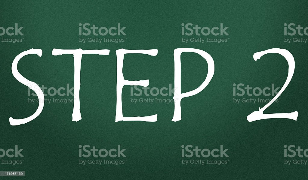 step symbol royalty-free stock photo