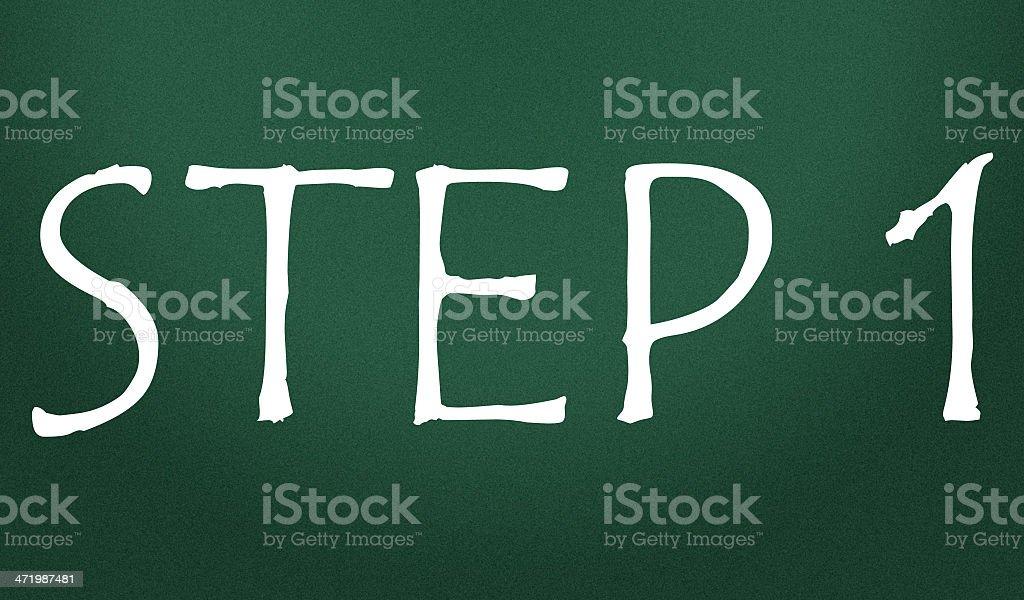 step symbol royalty-free stock photo