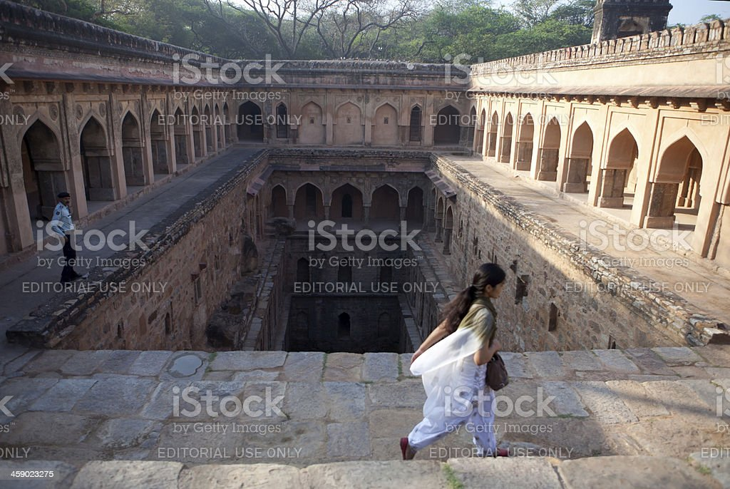 Step well, Mehrauli, India royalty-free stock photo