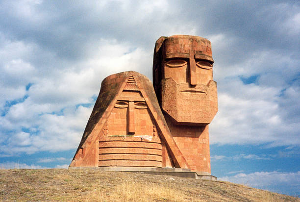 Stepanakert, Nagorno Karabakh / Artsakh: Tatik Papik monument stock photo
