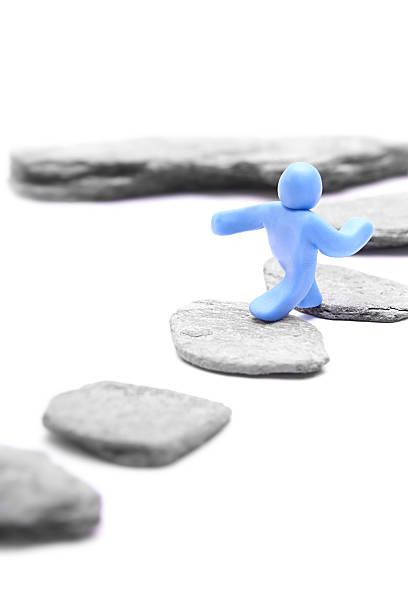 Schritt-für-Schritt-auf eine höhere Stufe – Foto