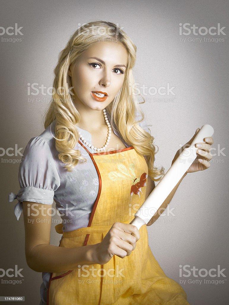 Stepford Wife stock photo