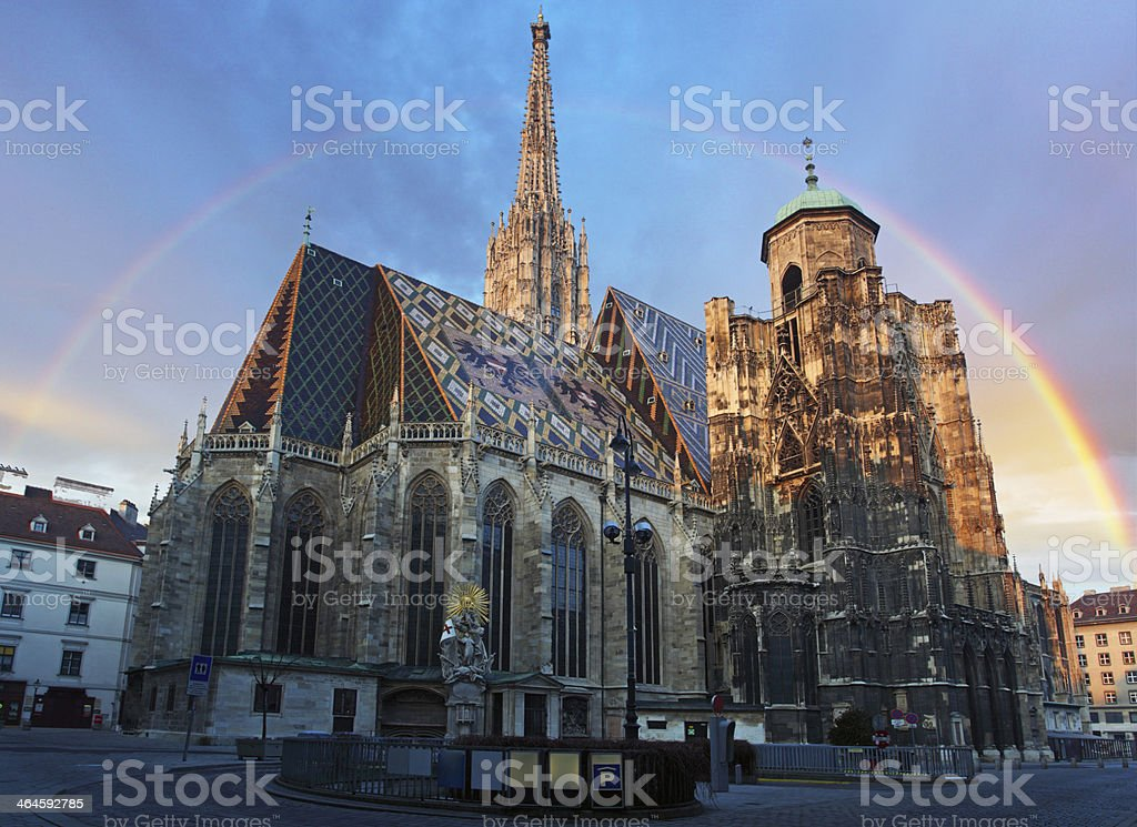 Stephan cathedral in Vienna, Austria stock photo