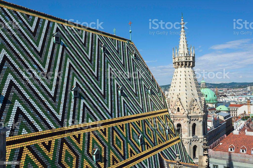 Stephansdom in Vienna stock photo