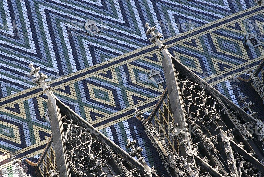 Stephansdom Vienna - roof detail stock photo