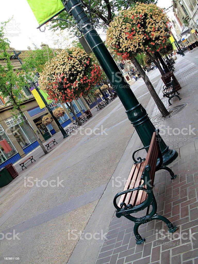 Stephen Avenue in Calgary royalty-free stock photo