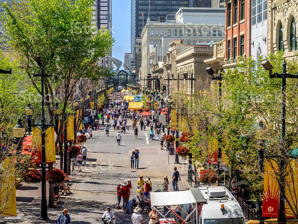 Stephen Avenue a Calgary - foto stock